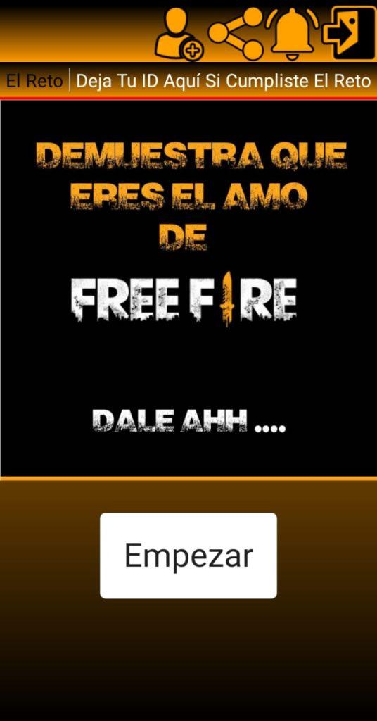 Aplicaciones de sorteos respondiendo preguntas de Free Fire